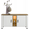 dressoir arizona, wit eikenhout, 140cm