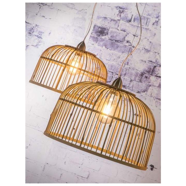 hanglamp gemaakt van bamboe