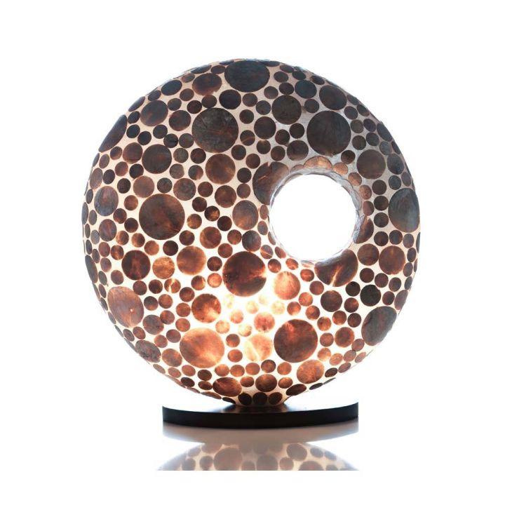 Tafellamp donut schelpen