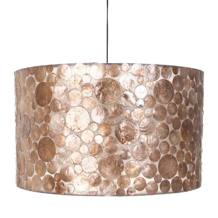 Gouden hanglamp schelpen