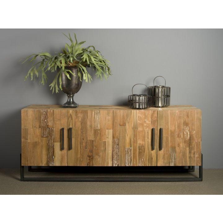 dressoir teak hout industrial