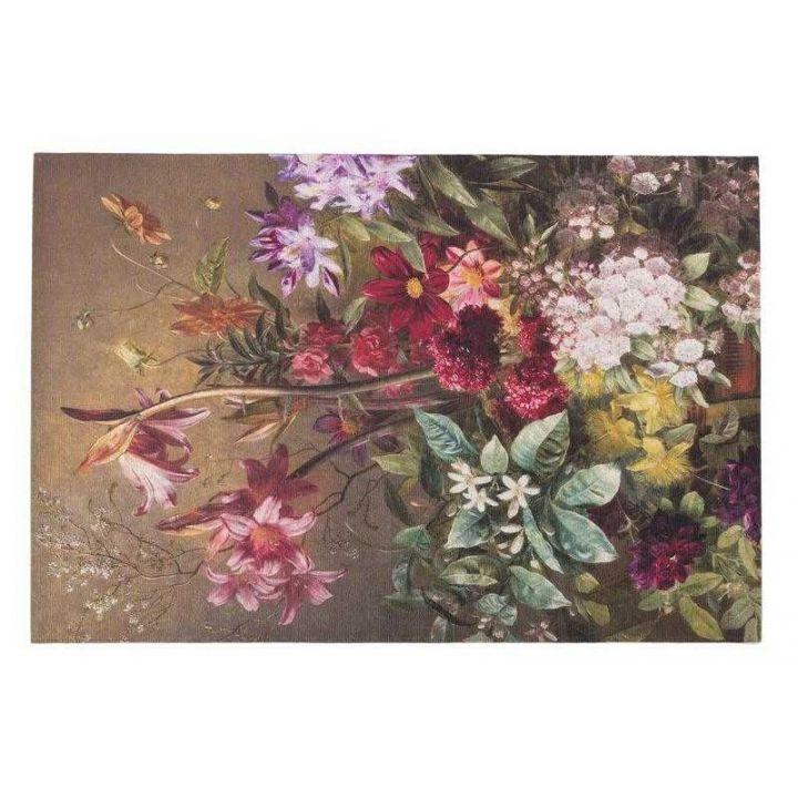 Vloerkleed bloemen, karpet flores