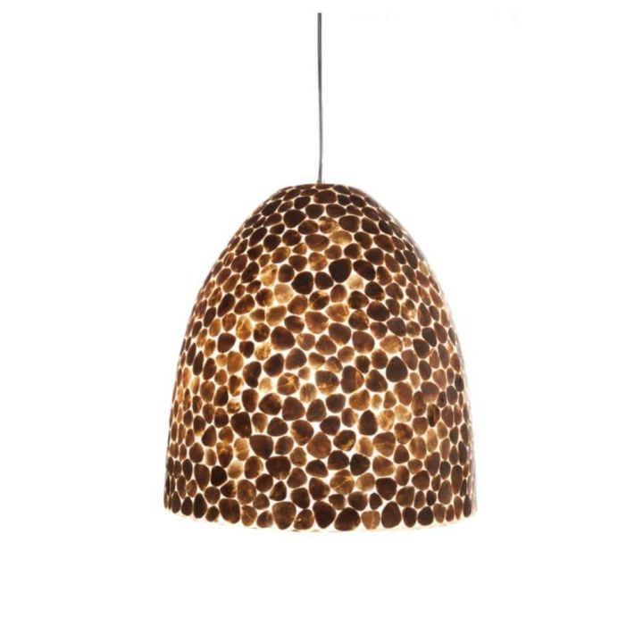 Hanglamp schelp goud