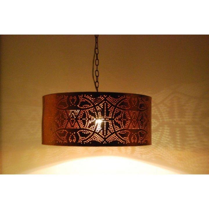 Filigrain hanglamp oosters koper