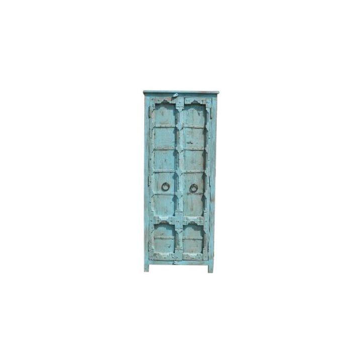 Ibiza kast blauw oude deuren