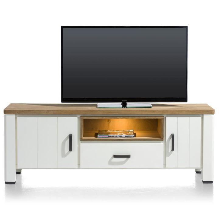 wit lowboard, tv meubel eikenhout arizona