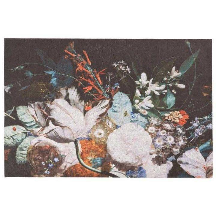 Vloerkleed met bloemen, karpetten