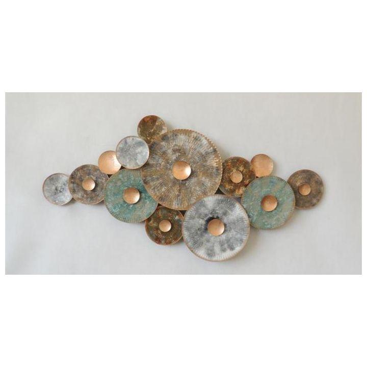 metaal wandornament, decoratie happy home
