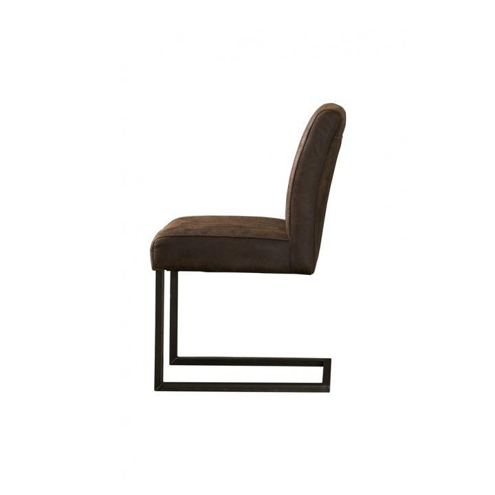 Industriële stoel Ferro Donkerbruin