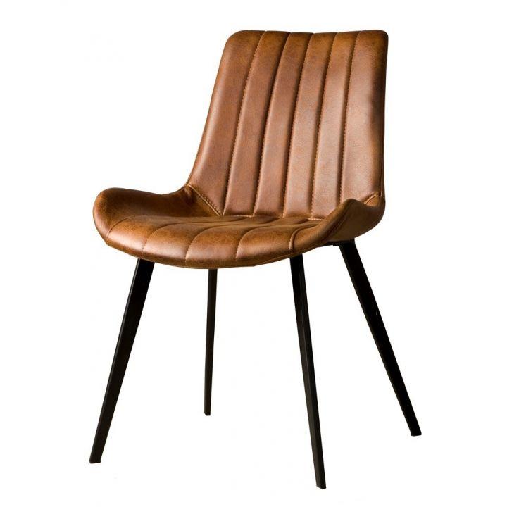 Industriële stoel Eljas Cognac