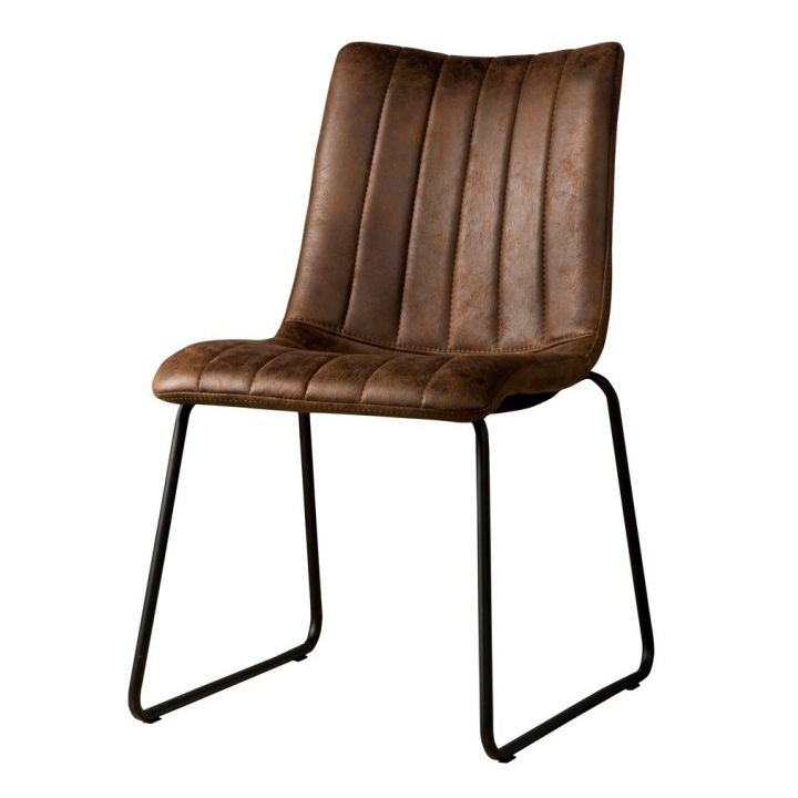 industriële stoel Bunol donkerbruin