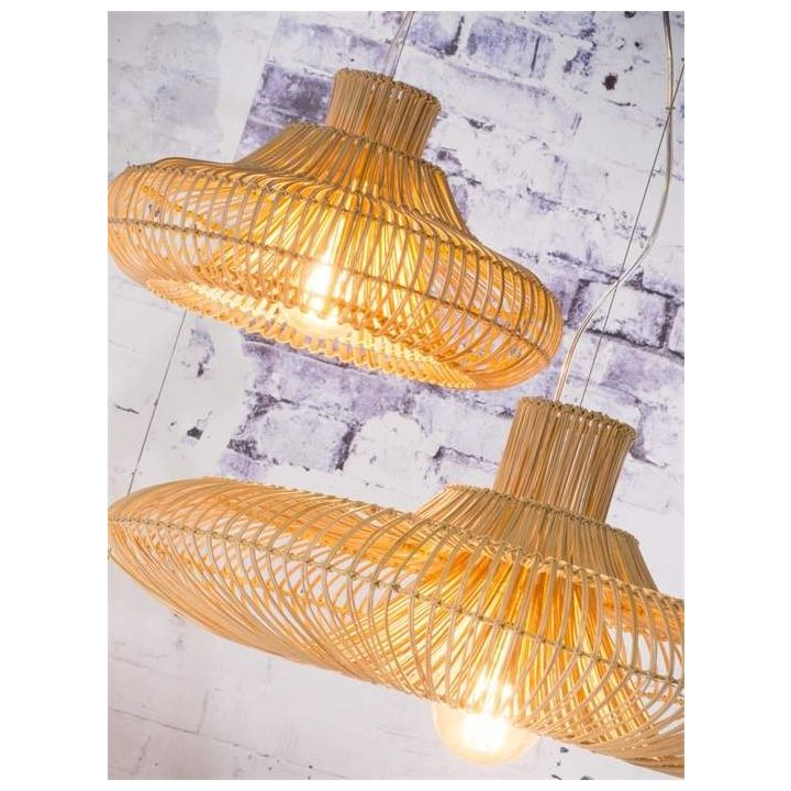 rattan hanglamp, natuurlijke materialen