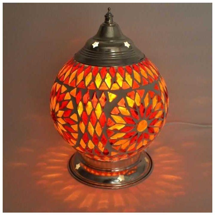 Oosterse mozaïek lamp rood-oranje