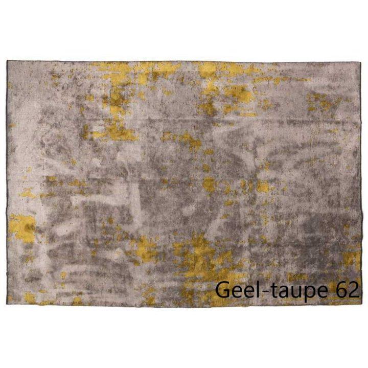 vloerkleed taupe geel gevlekt, laagpolig karpet