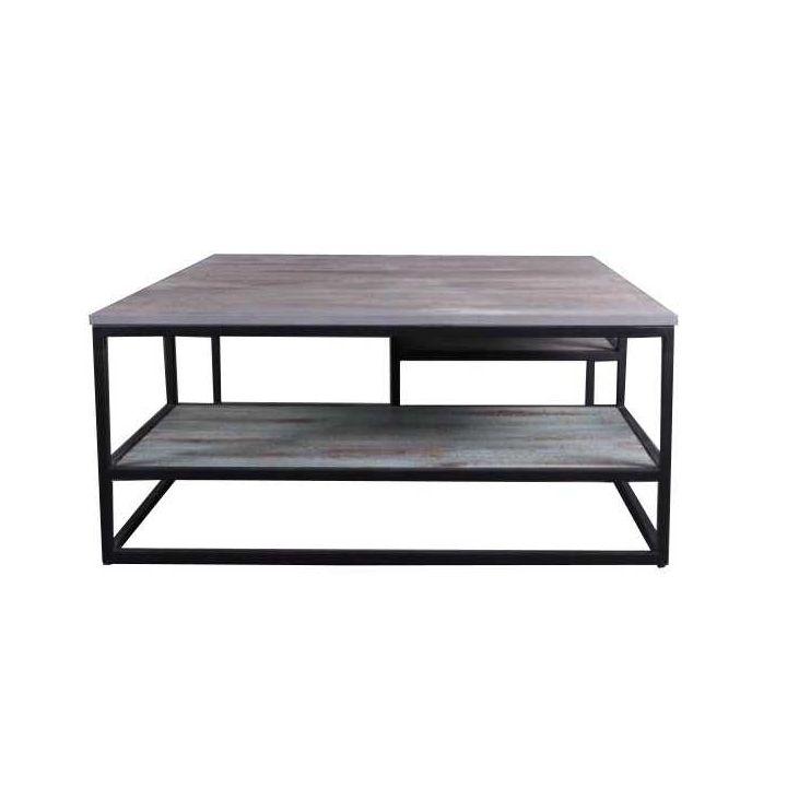salontafel vierkant industrieel 100 cm