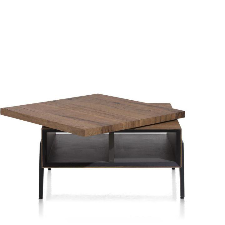 salontafel janella draaibare top eikenhout met metaal