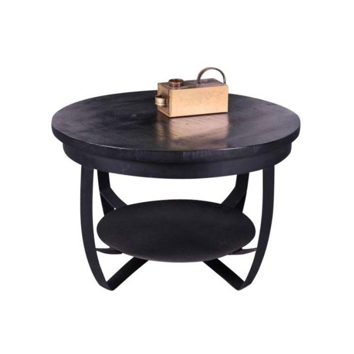 Salontafel zwart mangohout 70cm