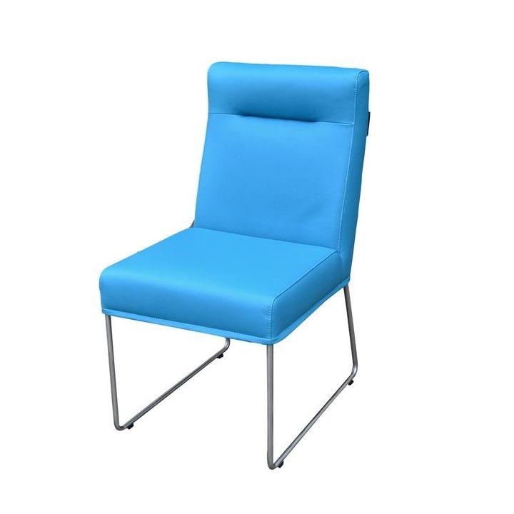 eetkamerstoel leer blauw