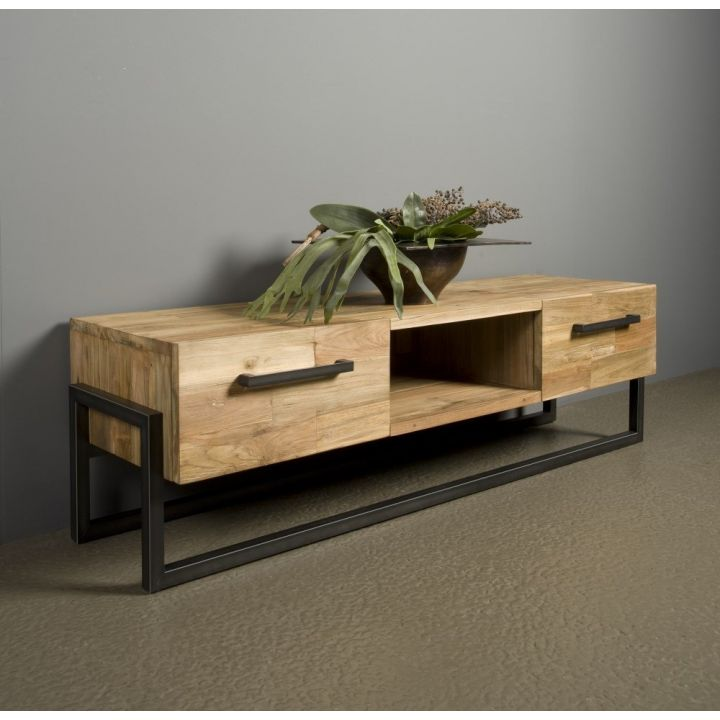 tv dressoir teak hout