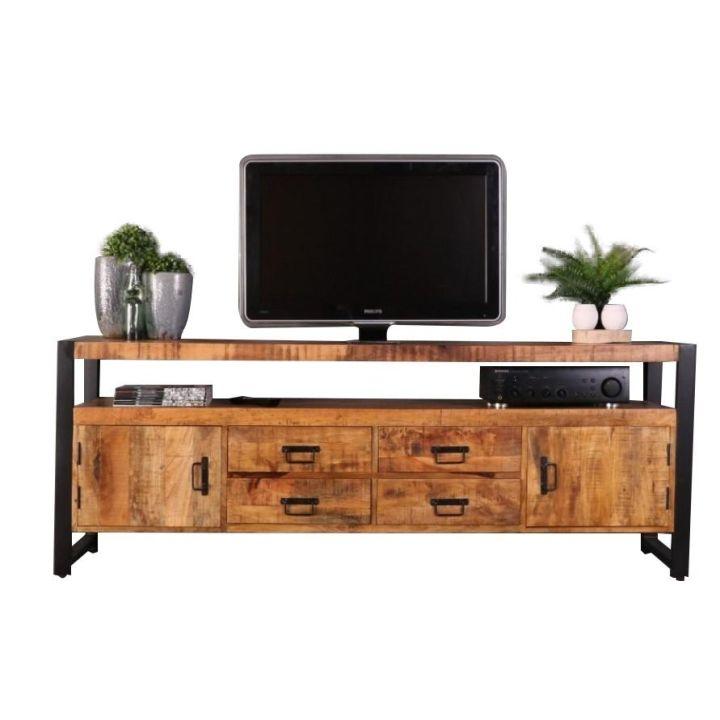 tv dressoir mangohout / dressoir mangohout laag