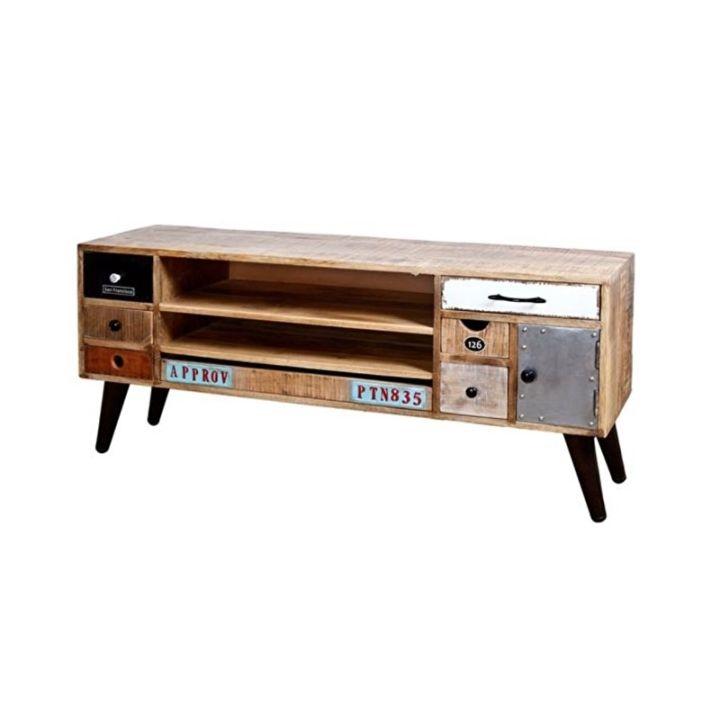 vintage tv meubel, picadilly, mangohout