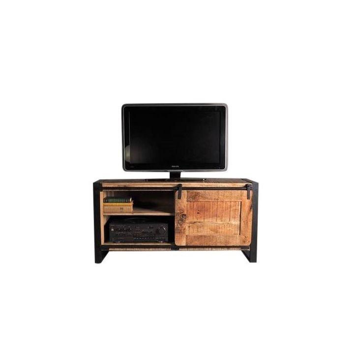 Industriele tv meubels mangohout