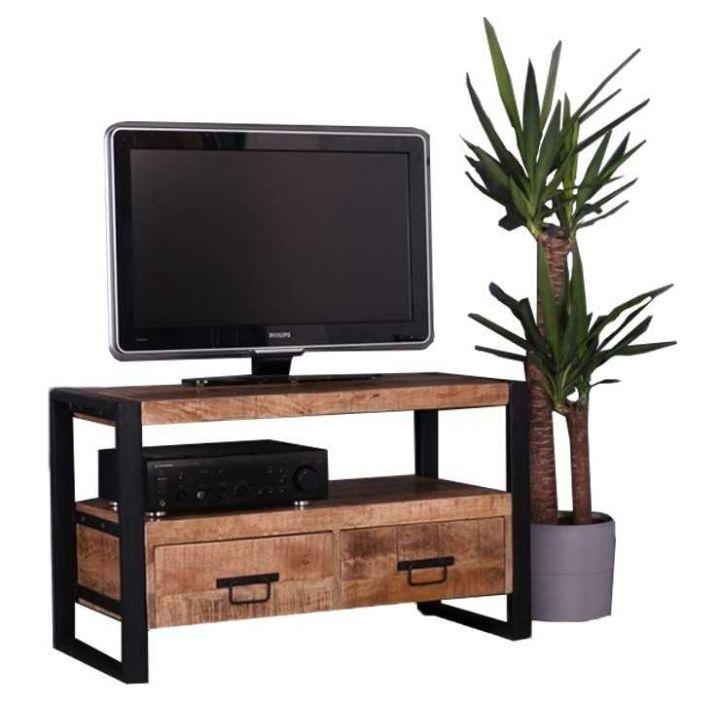 tv meubel mangohout industrieel klein